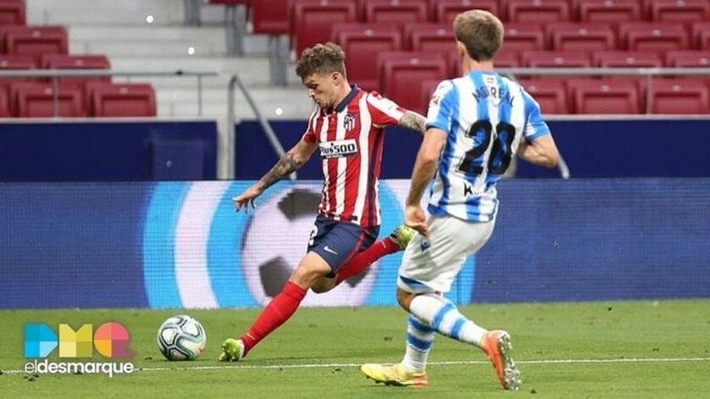 Trippier y Monreal, en el Atlético-Real Sociedad