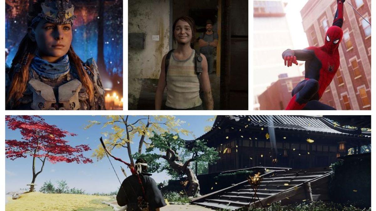 Horizon Zero Dawn, The Last of Us 2, Spider-Man y Ghost of Tsushima