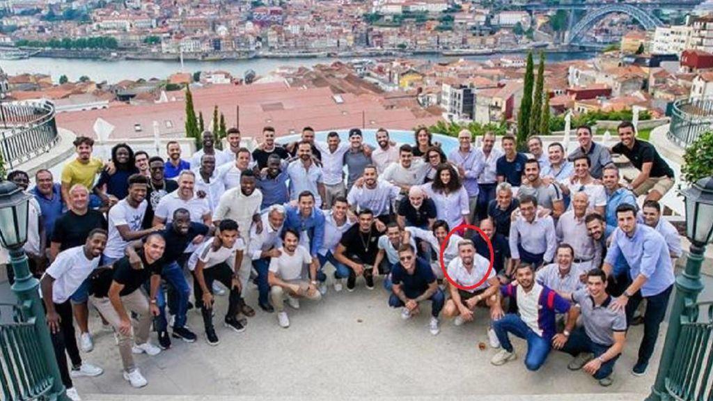 La plantilla del Oporto, de fiesta en un hotel
