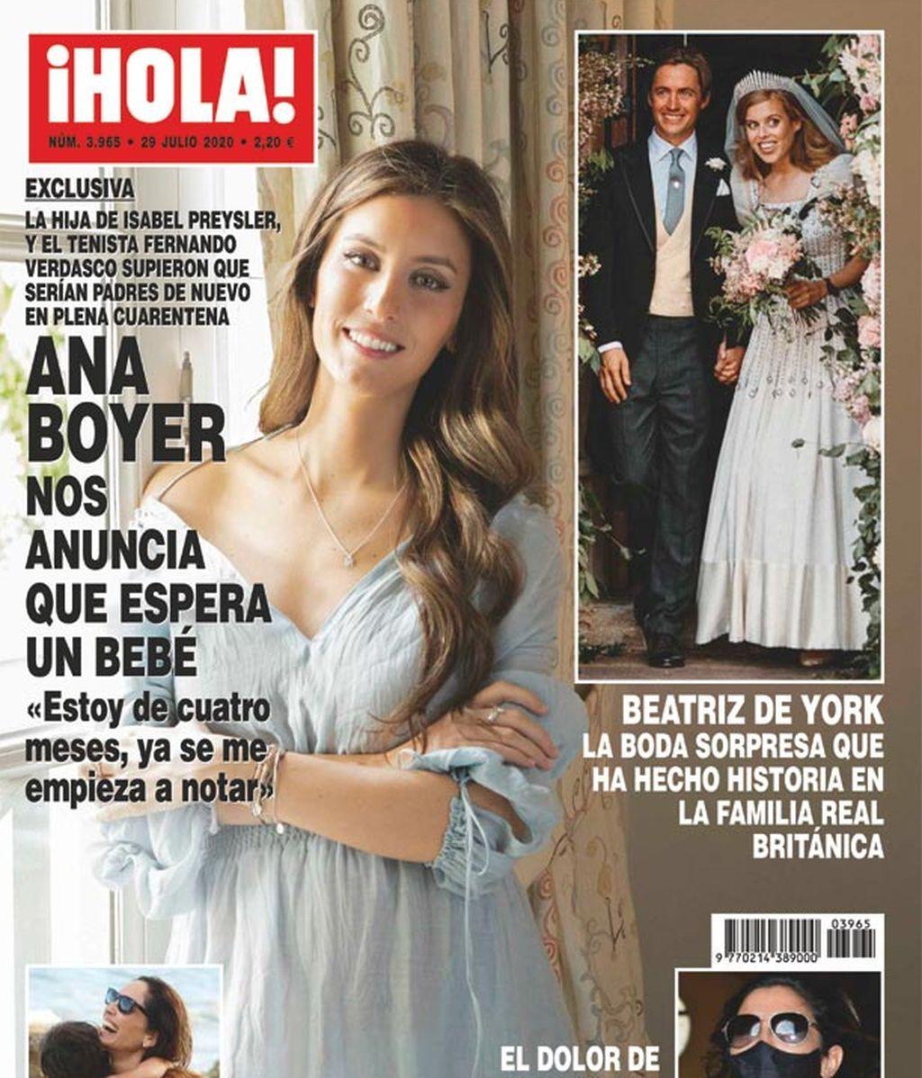 Ana Boyer anuncia su segundo embarazo