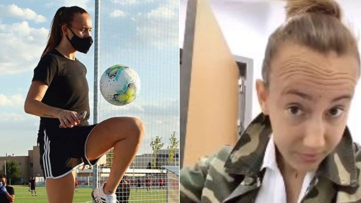 """La lucha diaria de la futbolista Virginia Torrecilla contra un cáncer: """"Recordadme con pelo"""""""