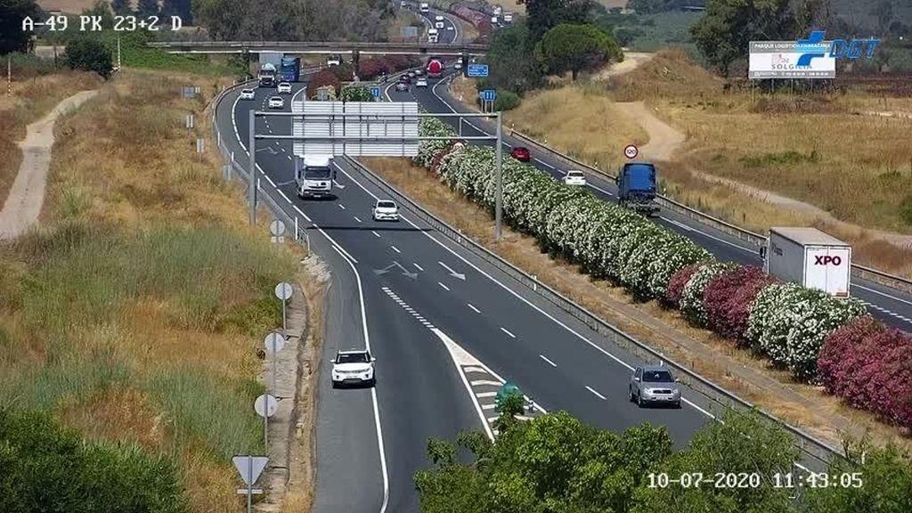 Carretera en la provincia de Sevilla