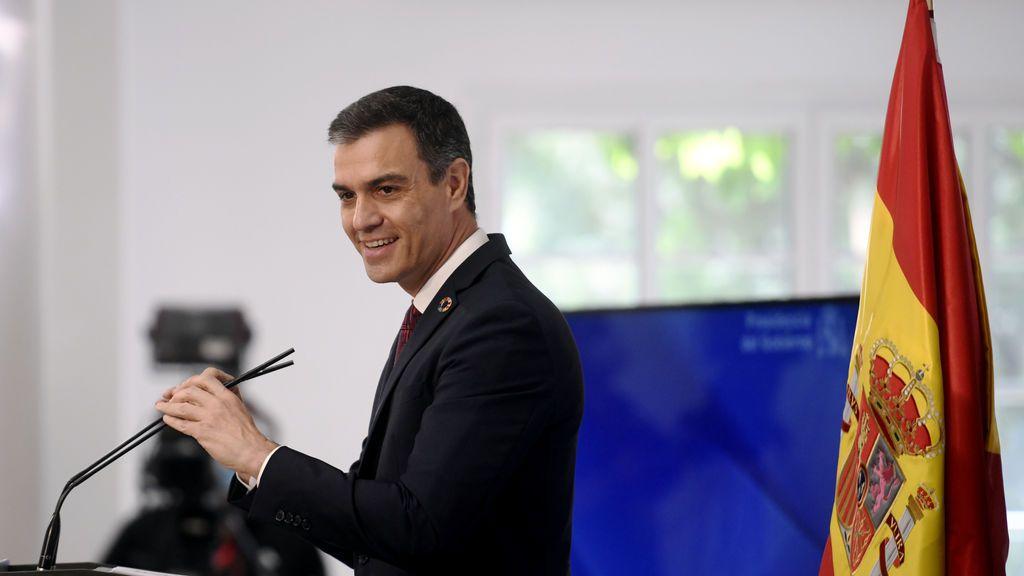 """El presidente del Gobierno, Pedro Sánchez, durante la presentación del Plan """"España Digital 2025"""""""