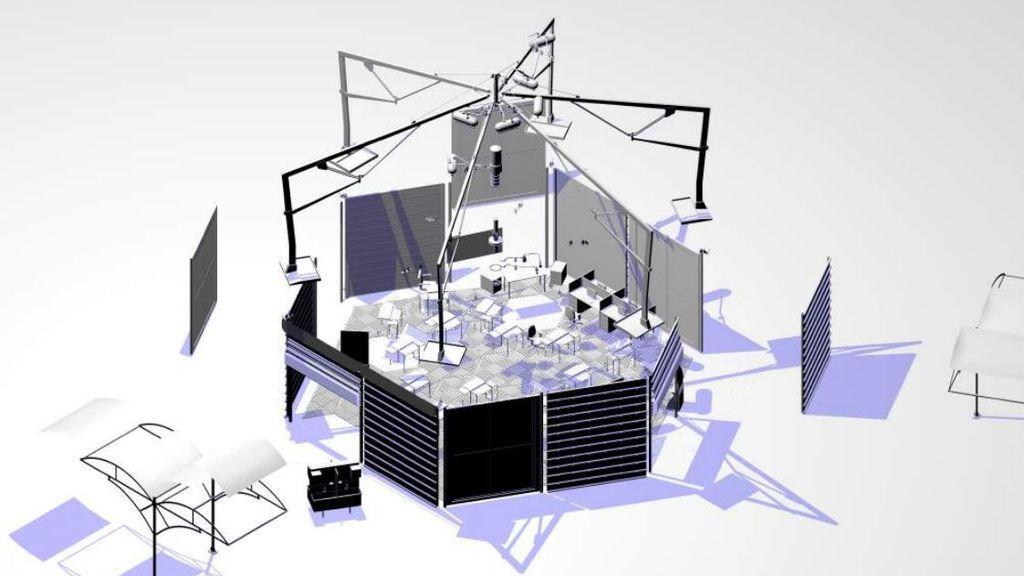 Escuela hexagonal para mantener la distancia en clase, el proyecto ganador del concurso de BBVA y FAD