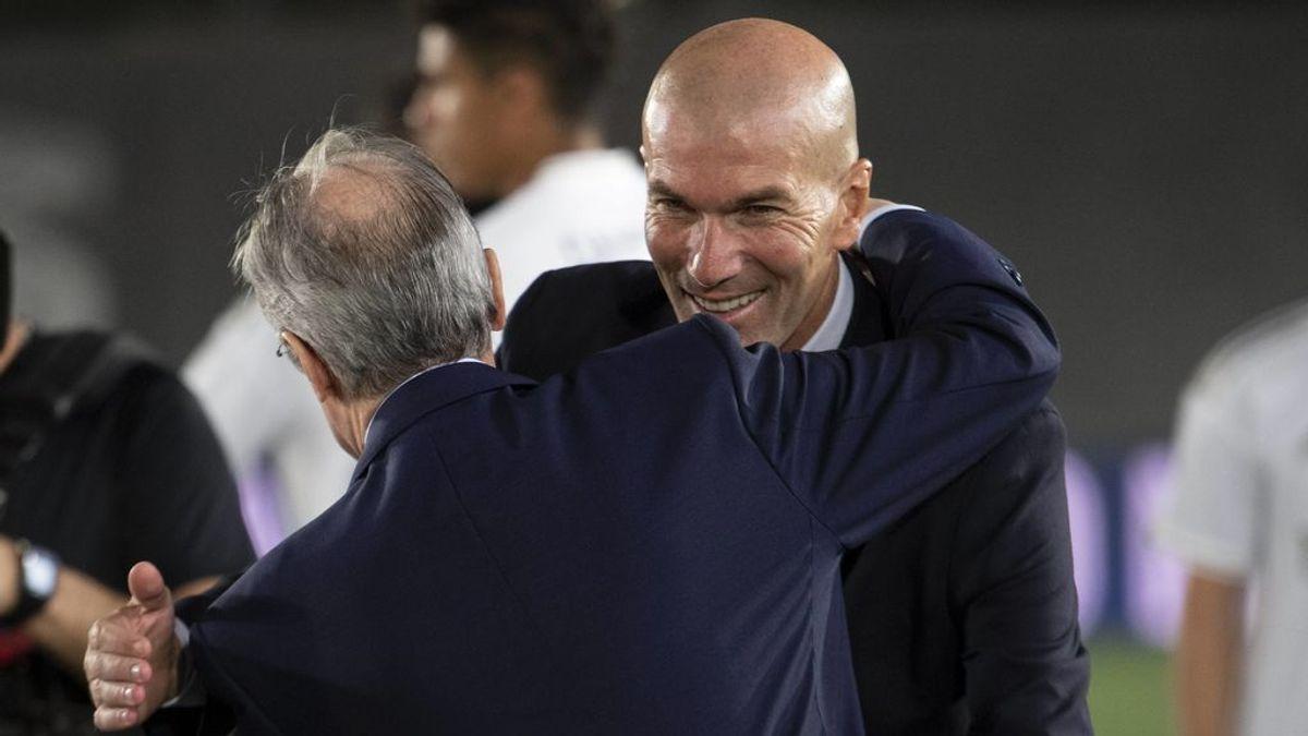 Zidane y Florentino cerraron la continuidad del francés para la próxima temporada nada más ganar Laliga
