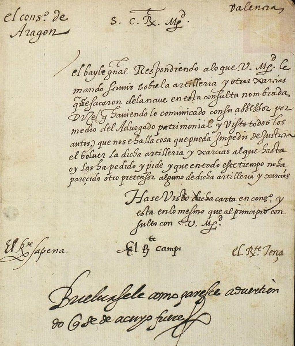 Uno de los documentos que permitió dar con la identidad de la embarcación