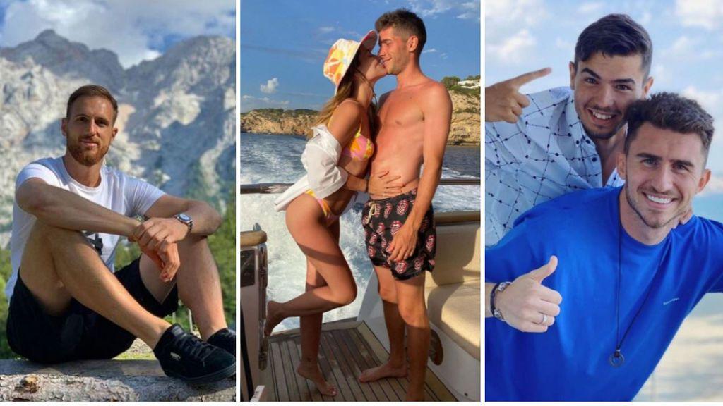 Oblak, Sergi Roberto y Brahim de vacaciones