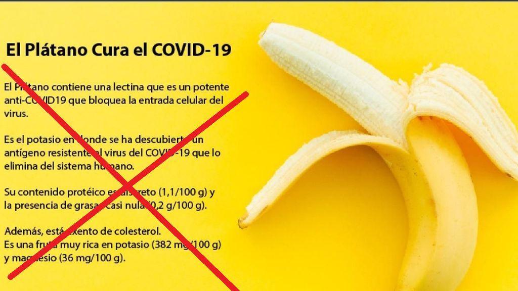 No, el plátano no cura el coronavirus: es otro de los bulos que circulan por las redes sociales