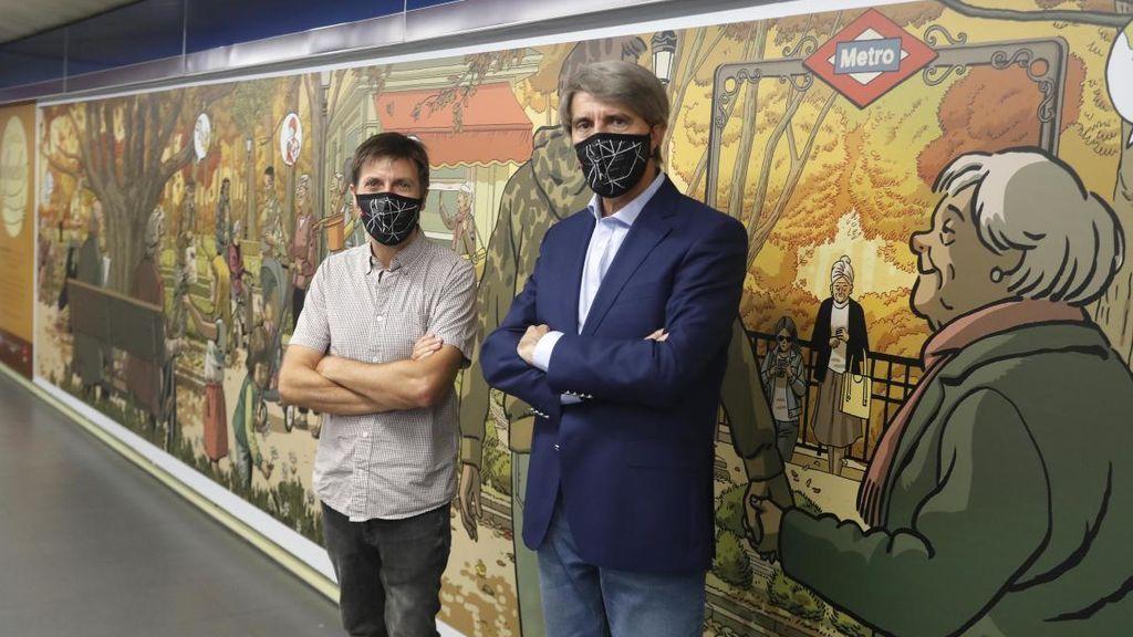 Un mural de Paco Roca rinde homenaje a los mayores en el Metro de Madrid