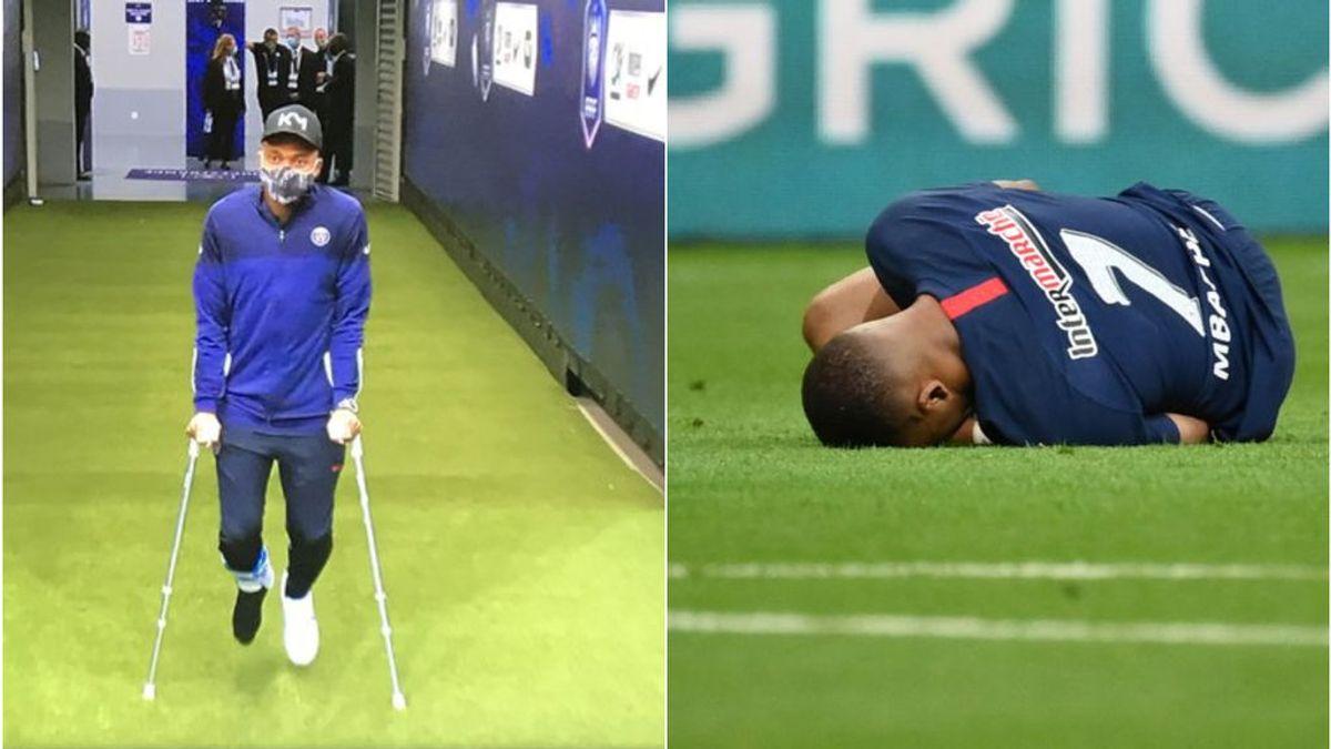 Mbappé, duda para la Champions: se lesiona tras una dura entrada en la final de la Copa de Francia
