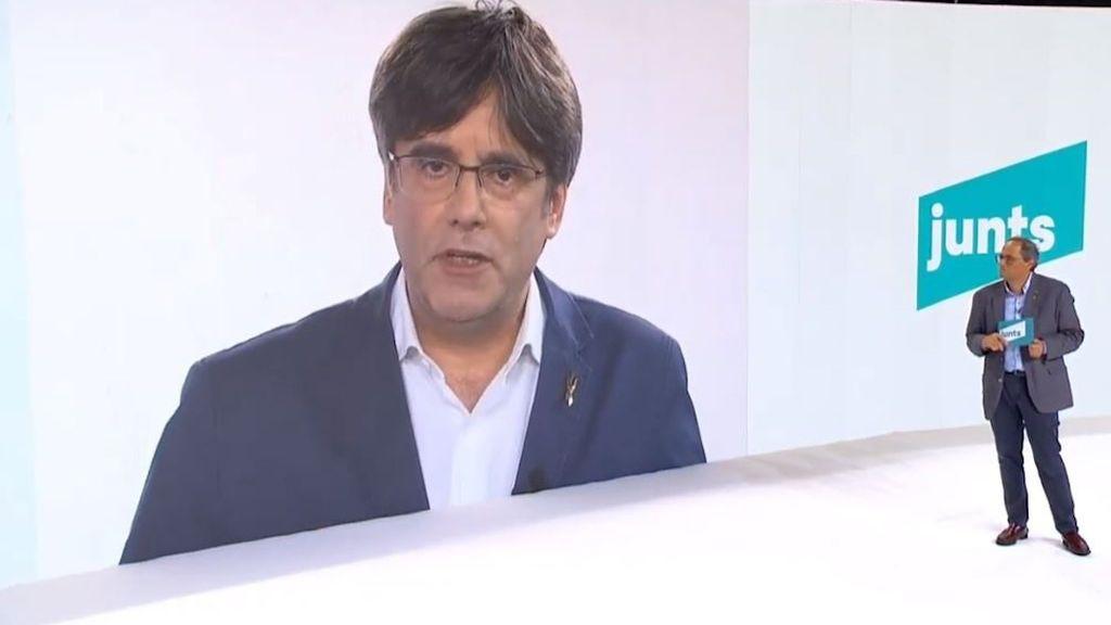 """Puigdemont presenta su nuevo partido como """"el carril central"""" hacia la independencia de Cataluña"""