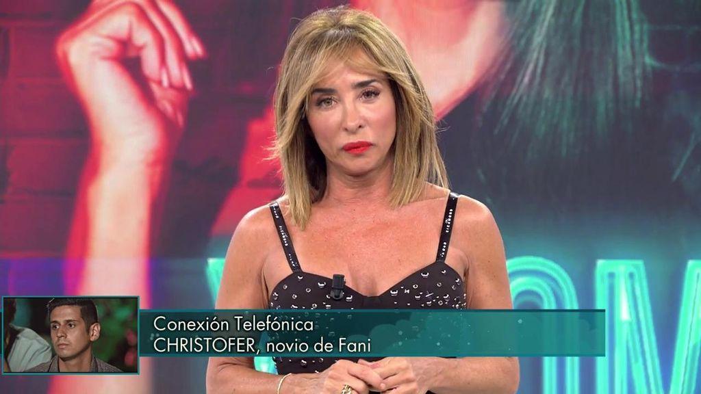 María Patiño corta la llamada de Christofer
