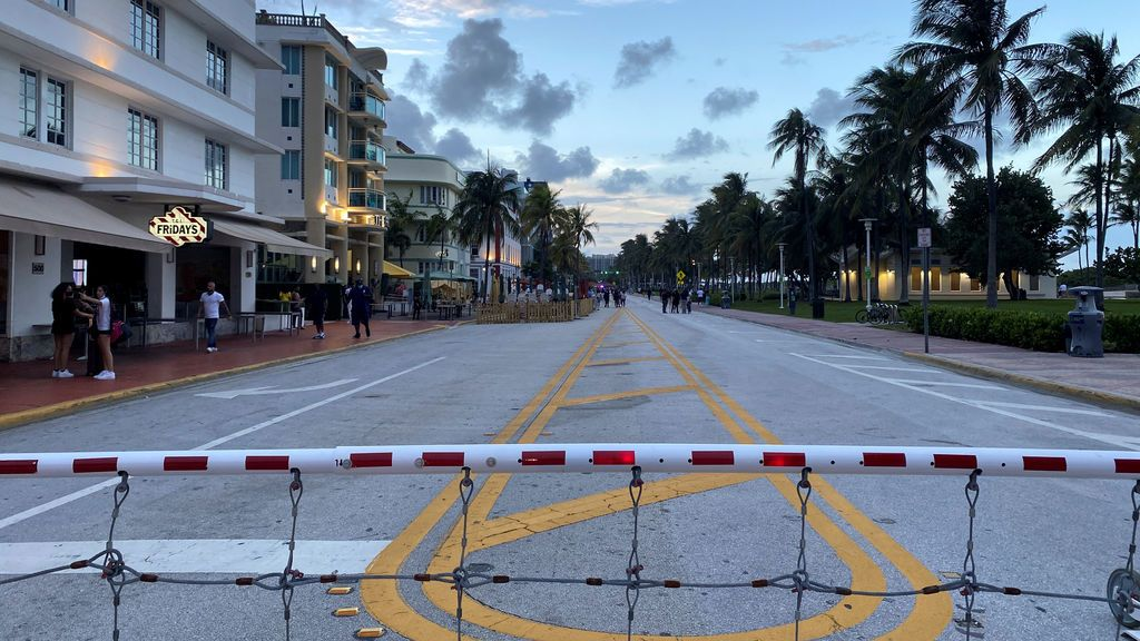 Toque de queda en Miami para frenar el coronavirus