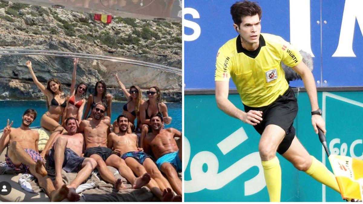 Indignación tras una imagen del árbitro asistente César Noval con Parejo y Soldado de vacaciones