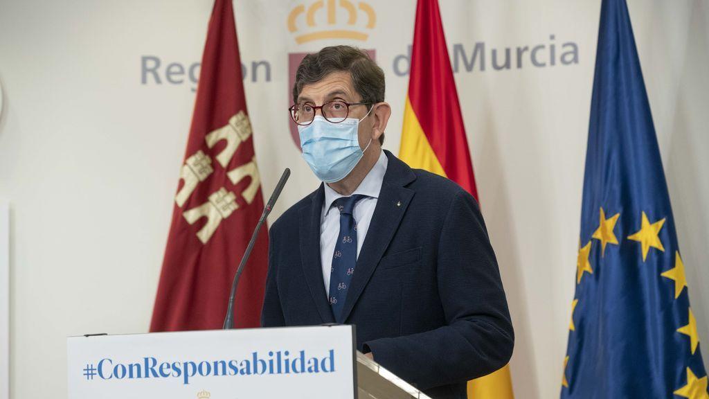 Manuel Villegas, consejero de Salud de la Región de Murcia.