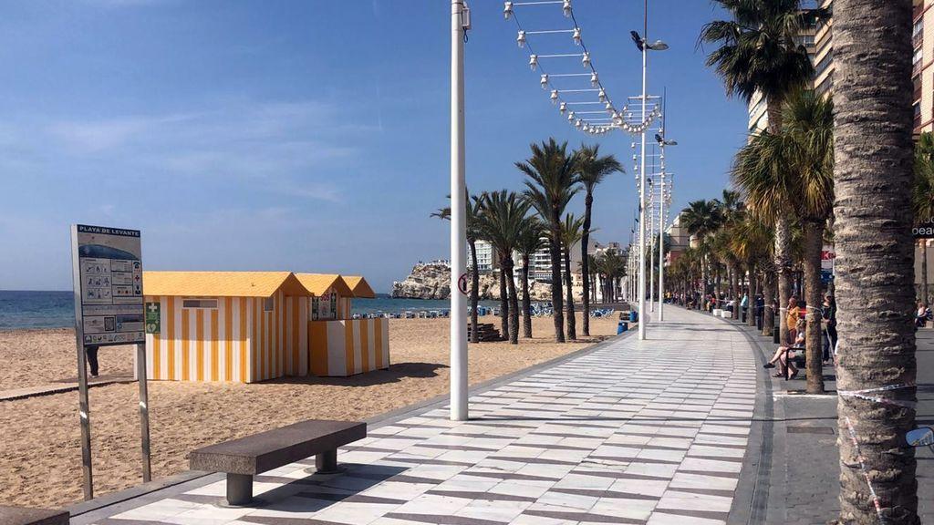 Playa de Benidorm, Alicante.