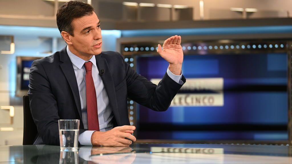 Pedro Sánchez, entrevistado en Informativos Telecinco