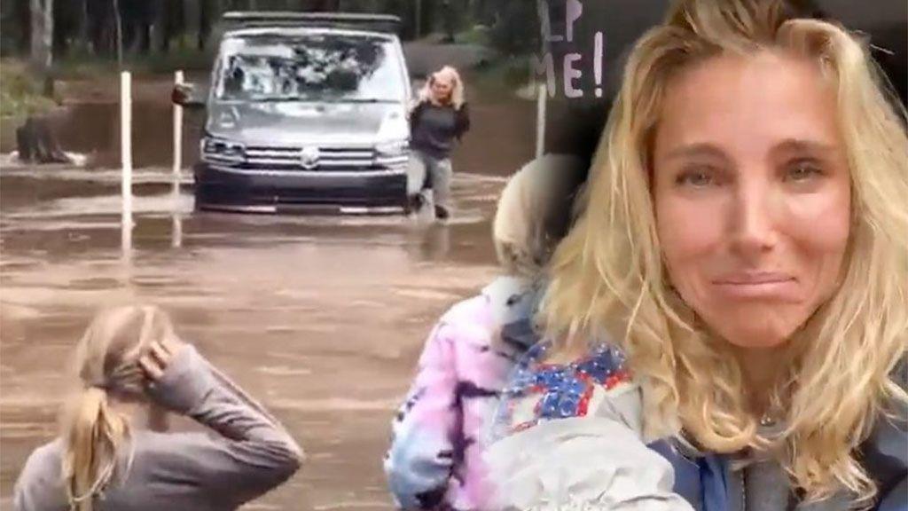 Elsa Pataky atrapada en medio de una riada