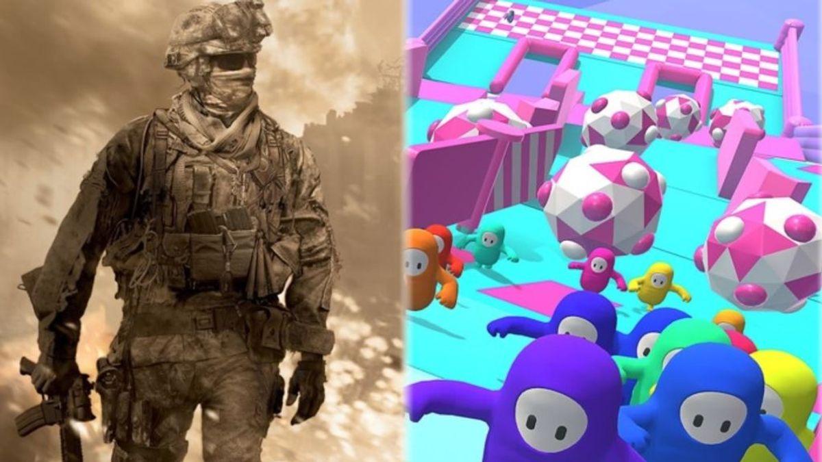 CoD WWII y a Fall Guys en PS4