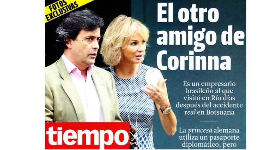 Corinna y Marcelo Carvalho en la revista Tiempo