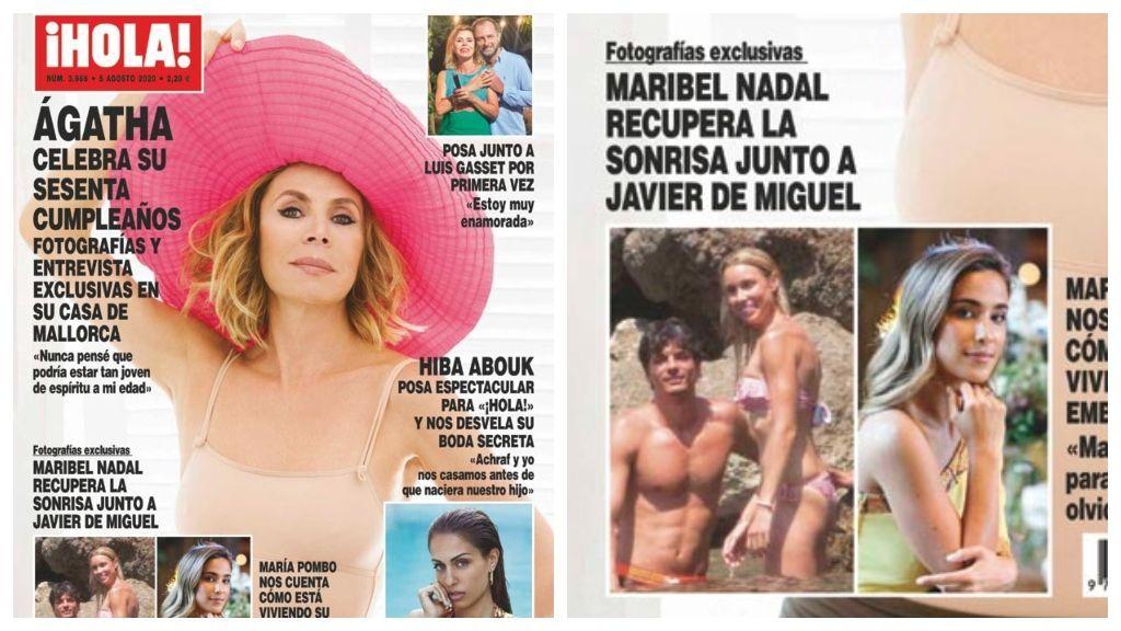 Maribel Nadal y Javier de Miguel en la portada de la revista ¡Hola!
