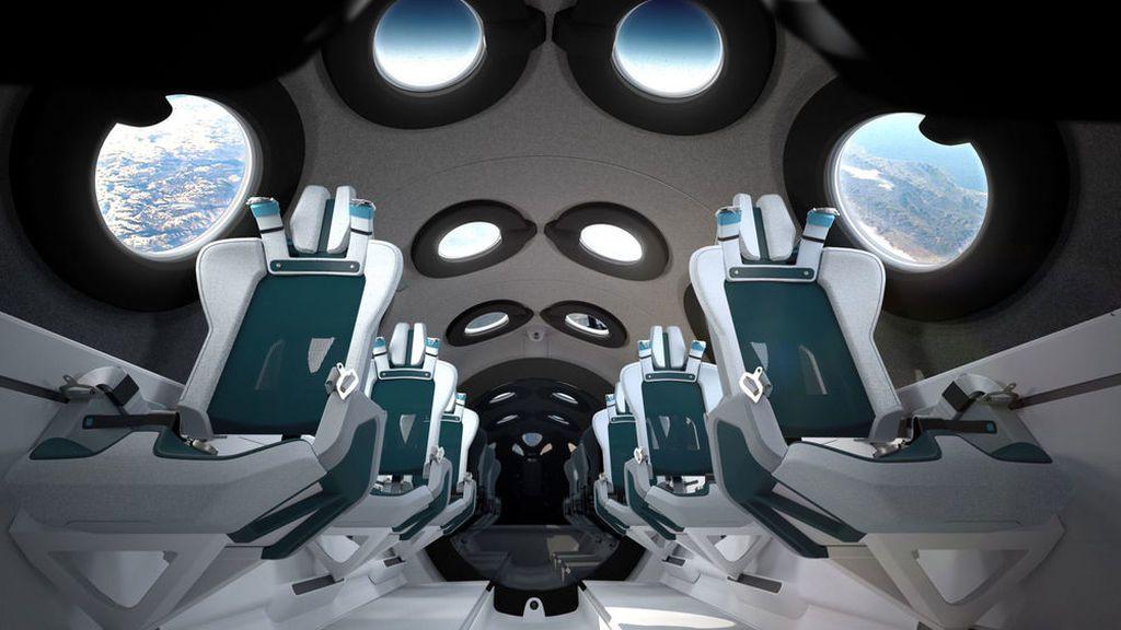 Turistas al espacio: Virgin Galactic presenta el elegante interior de su spaceliner comercial
