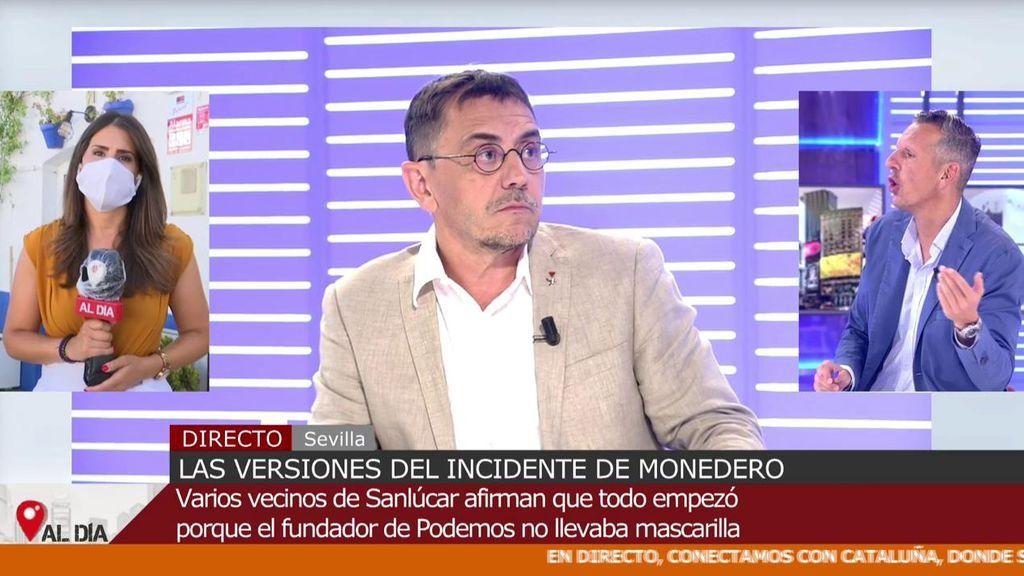 """Monedero acusa a una reportera de 'Cuatro al día' de no hacer bien su trabajo y Joaquín Prat reacciona: """"No te lo voy a permitir"""""""