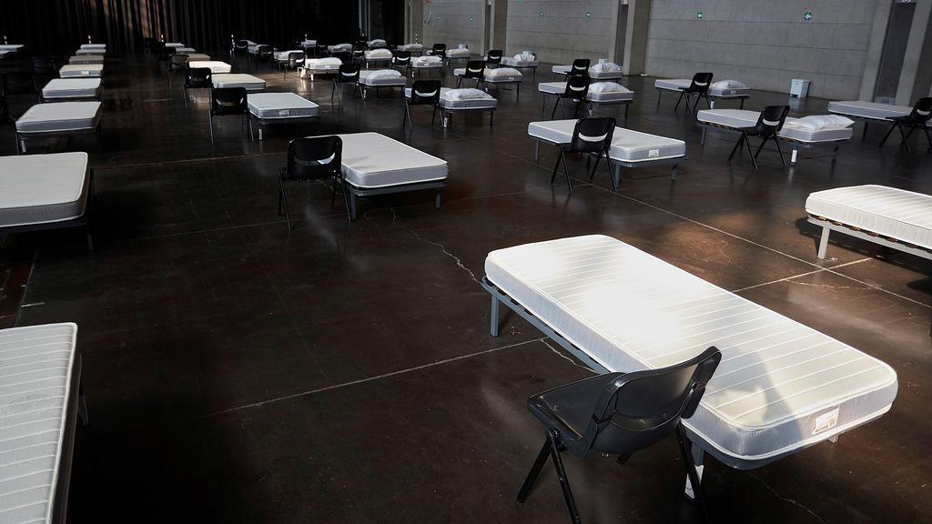 El auditorio de Zaragoza, convertido en 'arca de noé' para asintomáticos del coronavirus