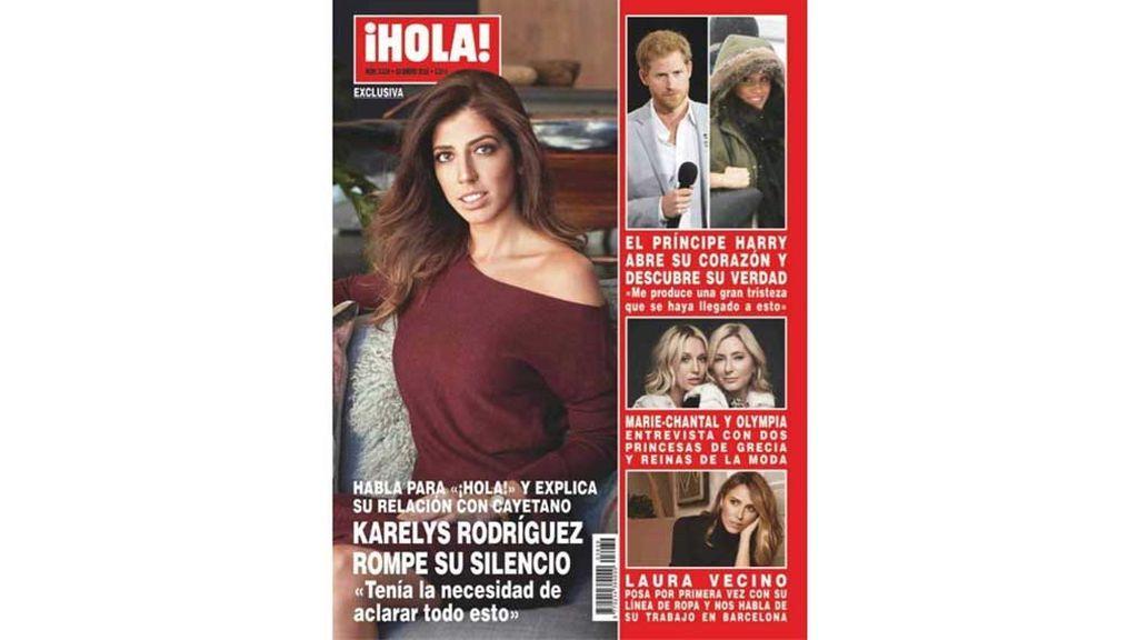 Entrevista a Karelys, amiga de Cayetano Rivera, en la portada de ¡Hola!