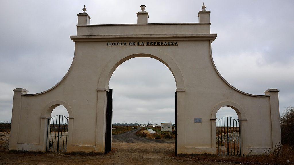 Entrada a la salina de la Universidad de Cádiz