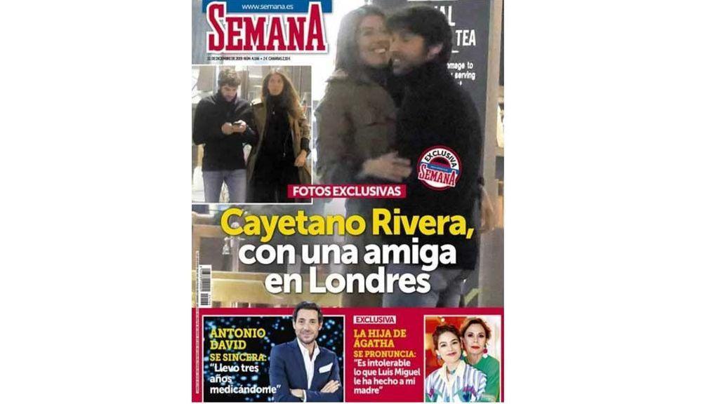 Karelys y Cayetano Rivera, en la portada de Semana, durante un encuentro en Londres