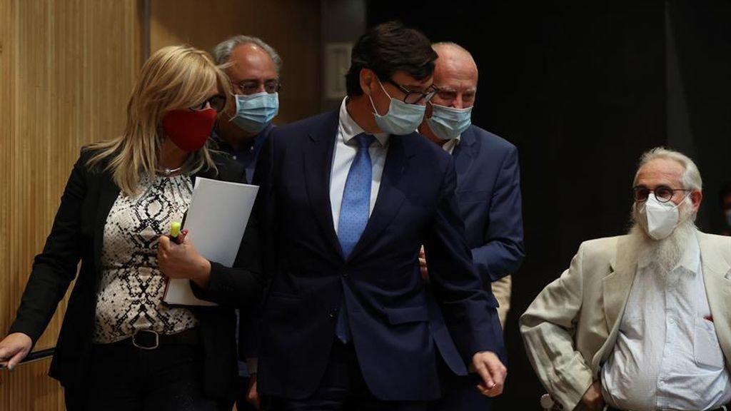 El ministro de Sanidad a su llegada al Congreso