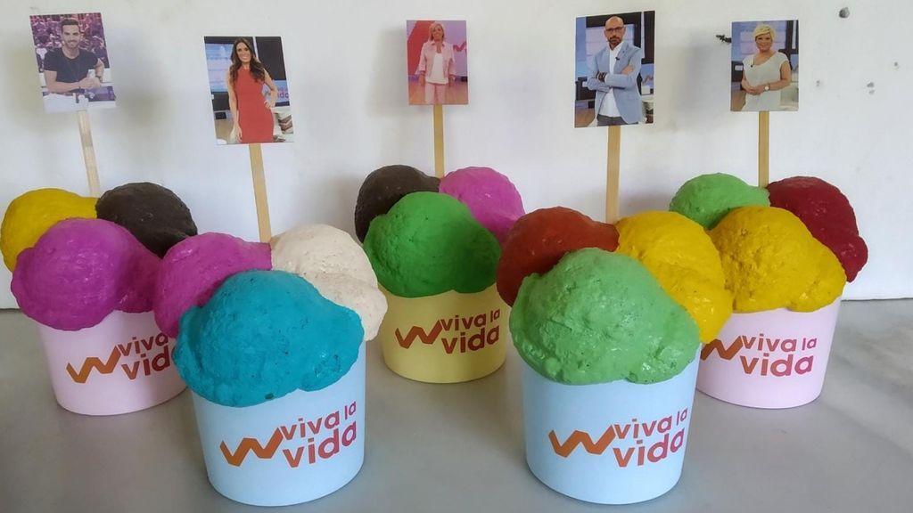 Elige el helado de tu colaborador favorito de Viva la vida