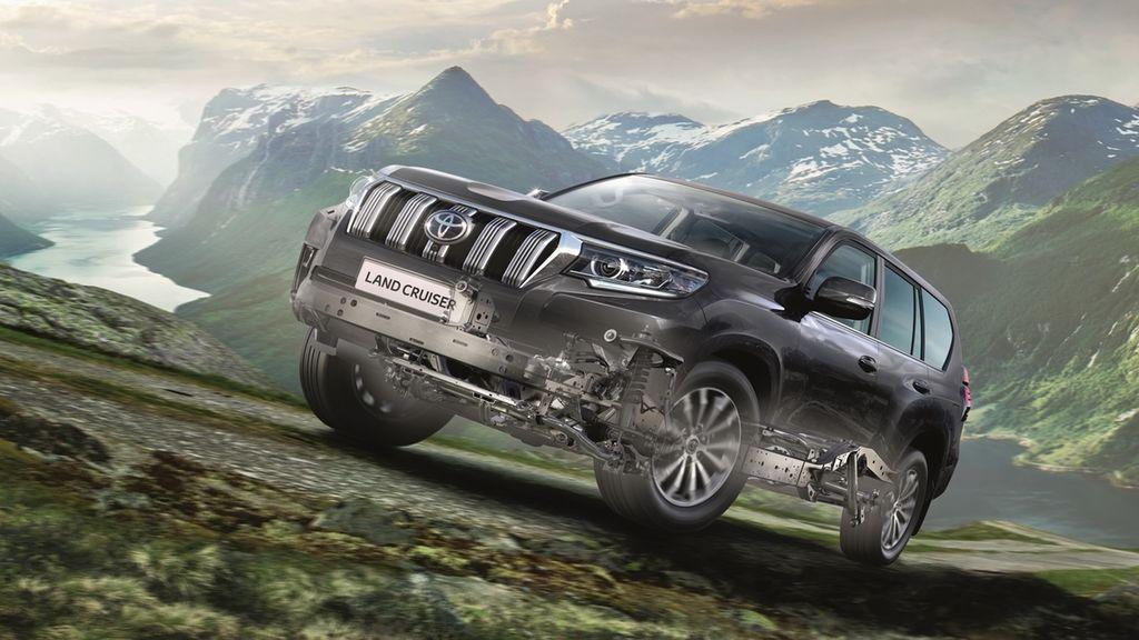 El Land Cruiser incorpora un chasis de largueros especial para el 4x4