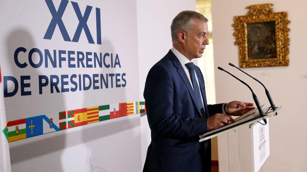 """Urkullu dice que no ha habido """"negociación a la carta"""" con Euskadi ni """"agravio"""" hacia otras comunidades"""
