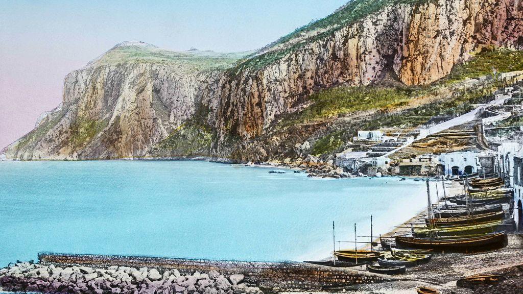 Pintura de la isla de Capri
