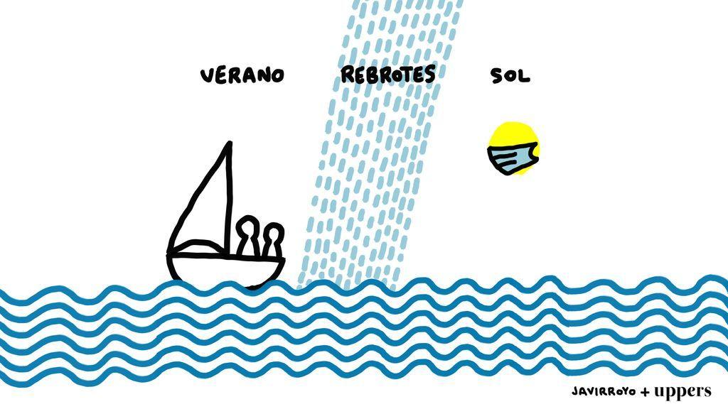La viñeta de Javirroyo: un verano con tormenta de rebrotes