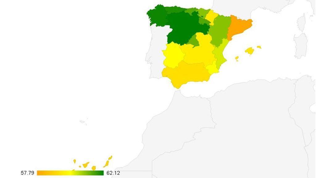 Mapa provisional del conocimiento en España