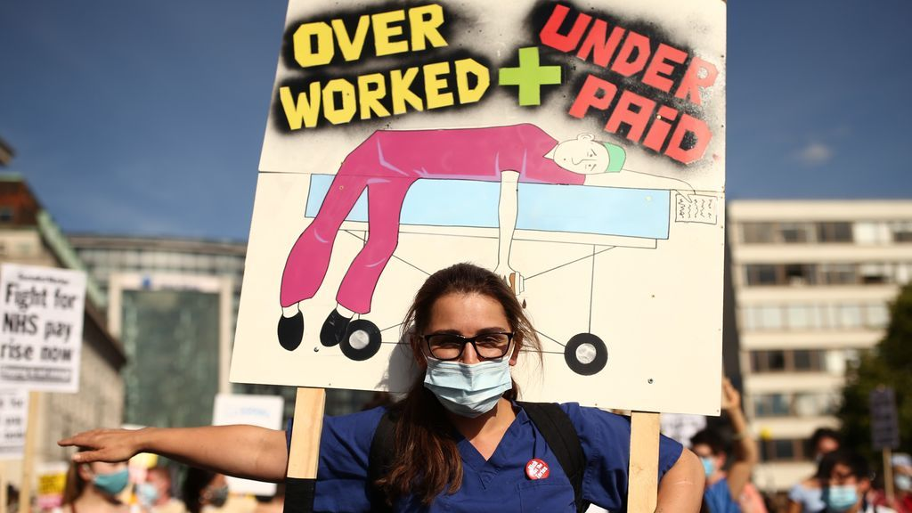Protestas de personal médico en Londres
