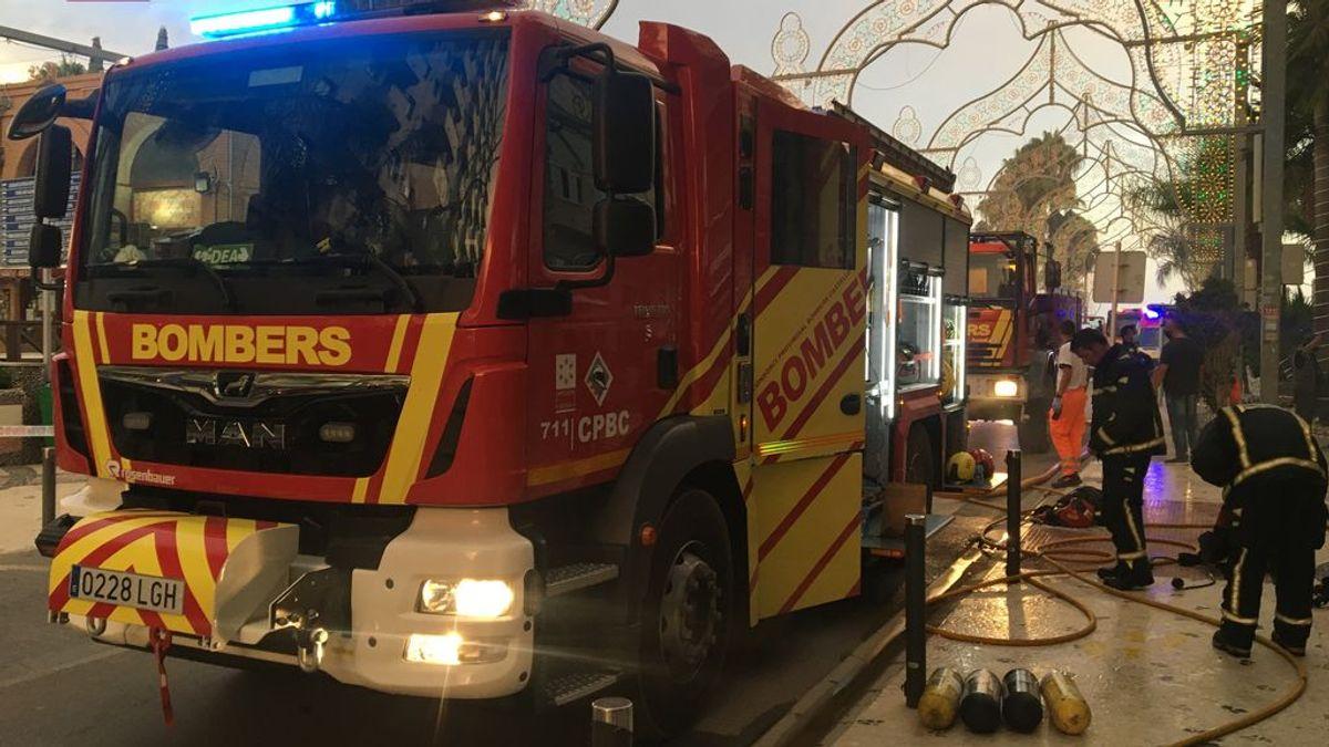 Desalojadas 160 personas por un incendio en un balneario de Orpesa en Castellón