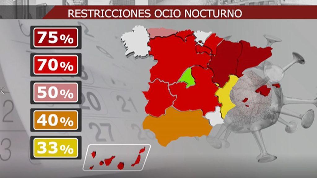 El mapa del ocio nocturno en España: el país toma medidas para evitar el avance del coronavirus