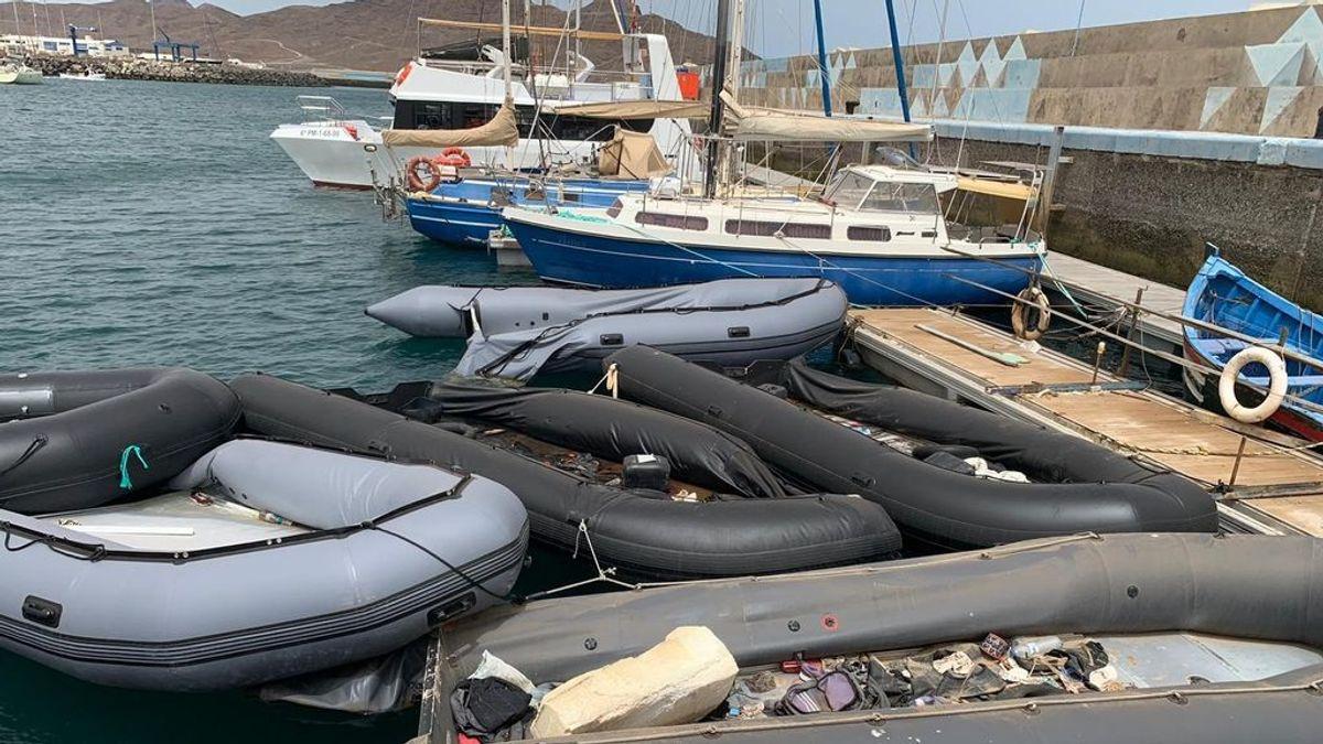 Siete muertos al naufragar en Tarfaya una patera que se dirigía a Canarias