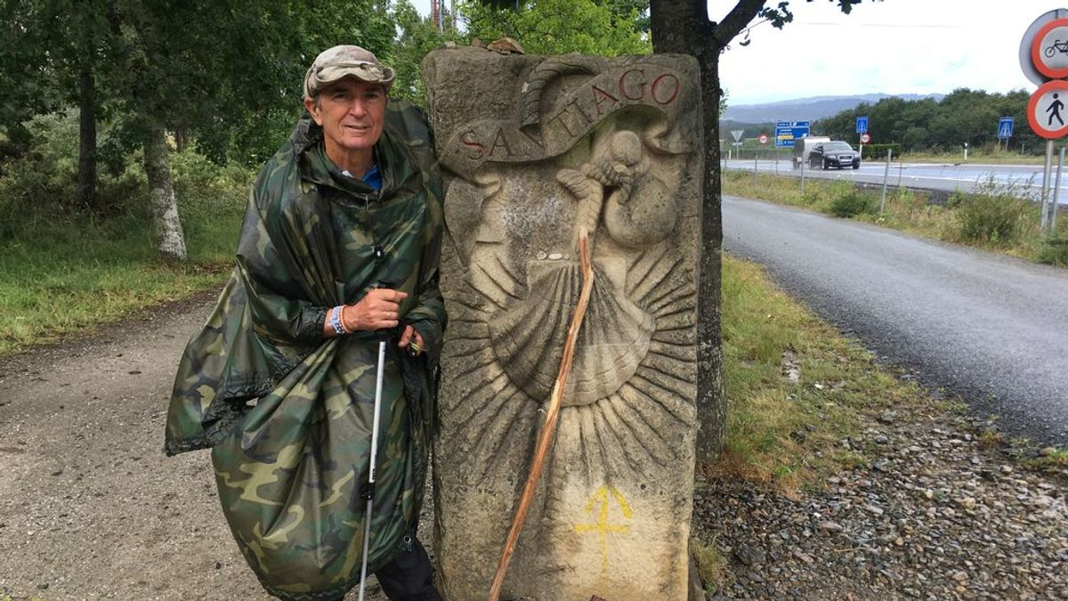 """José Antonio, peregrino de 73 años del Camino: """"Ahora hay muchos más paseantes que peregrinos"""""""