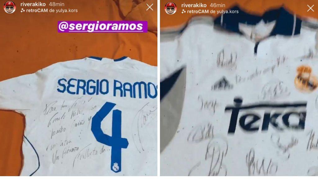 Kiko Rivera encuentra una camiseta regalada por Sergio Ramos