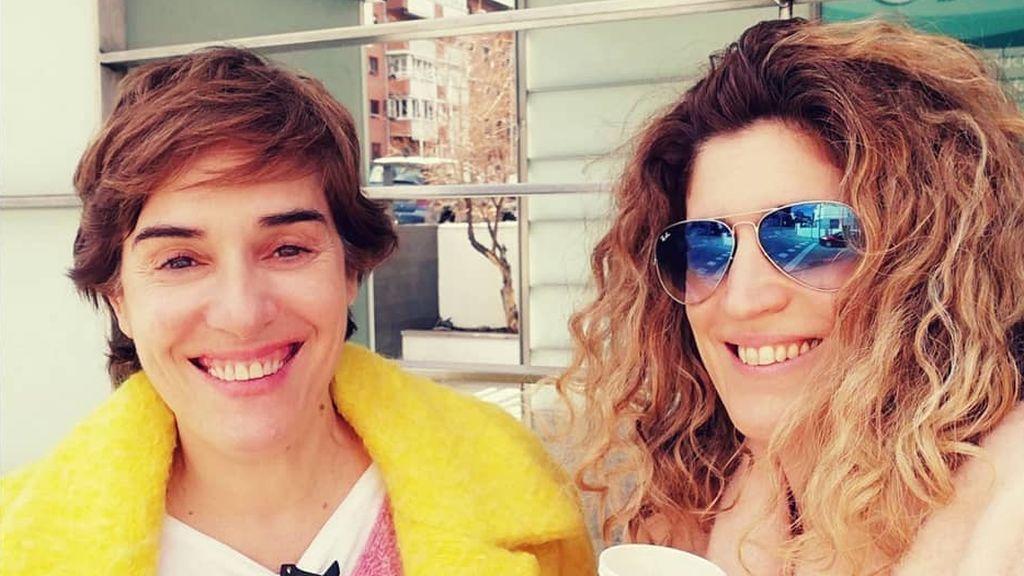 Anabel Alonso y su pareja