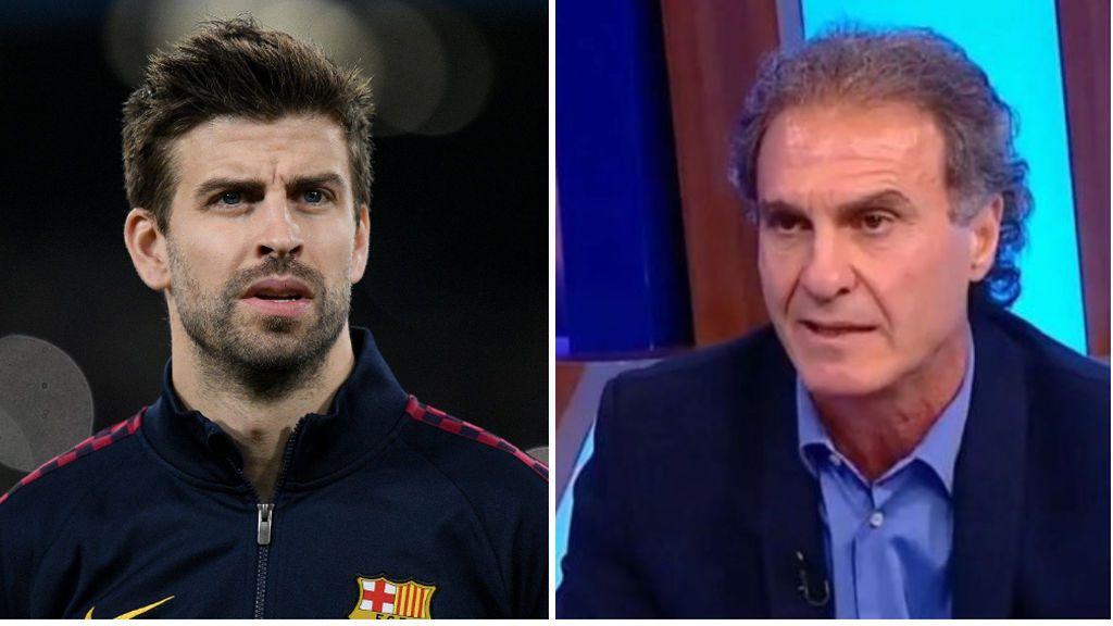 """Ruggeri atiza a Piqué: """"Es un jugador normalito, de medio pelo, si jugara en el Valencia ni le conocerían"""""""