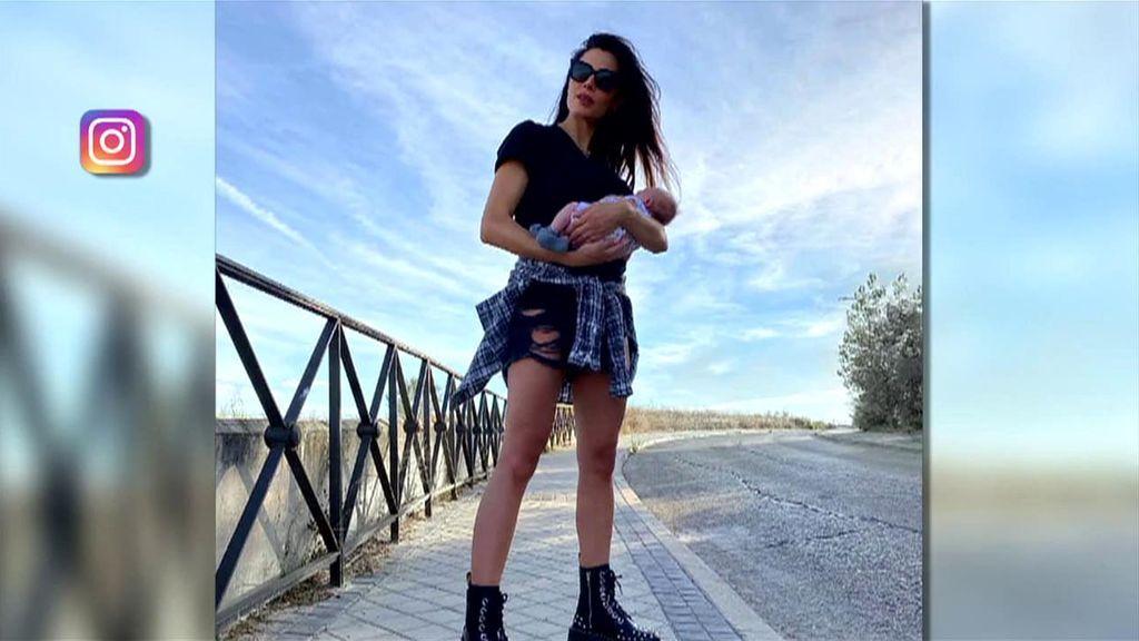 Pilar Rubio reaparece en redes tras el nacimiento de su cuarto hijo con su look más rockero