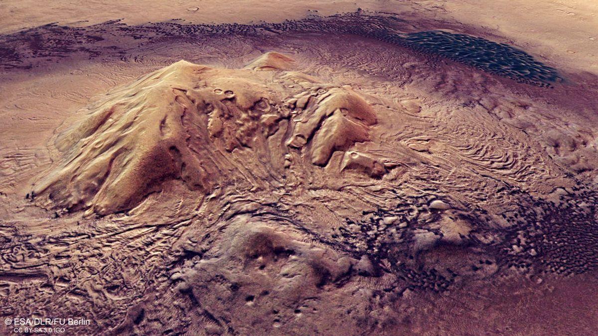 El flujo de ríos no explica los valles de Marte: se demuestra que los crearon glaciares
