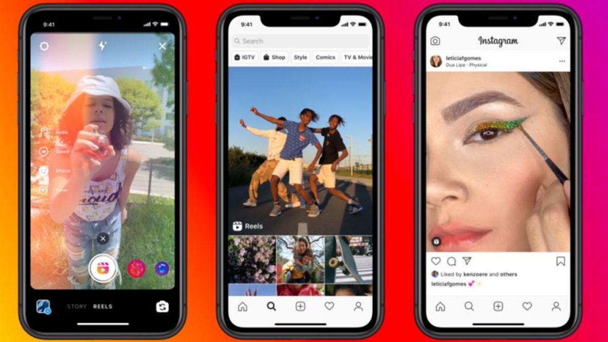 Instagram lanza Reels, su alternativa para competir en vídeos cortos con Tik Tok