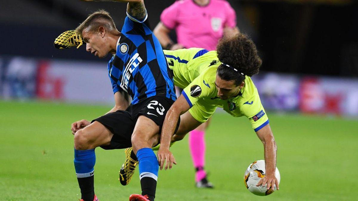 Se acabó el sueño europeo para el Getafe: el Inter sin tener que emplearse a fondo consigue llevarse la eliminatoria (2-0)